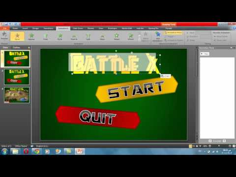 Power point game tutorial 1 - Make a menu
