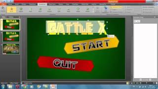Power point game tutorial 1 - Make a menu