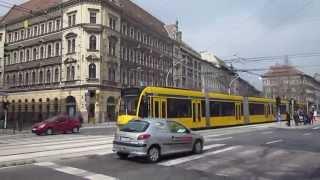 Budapest: Harminckettesek tere (József körút). Tram BKV no. 2013