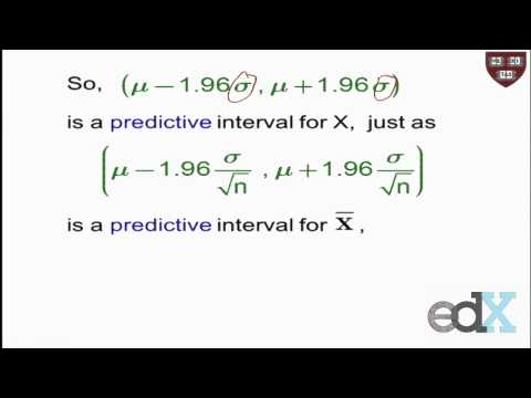 Week 5 : PREDICTIVE VS. CONFIDENCE INTERVAL