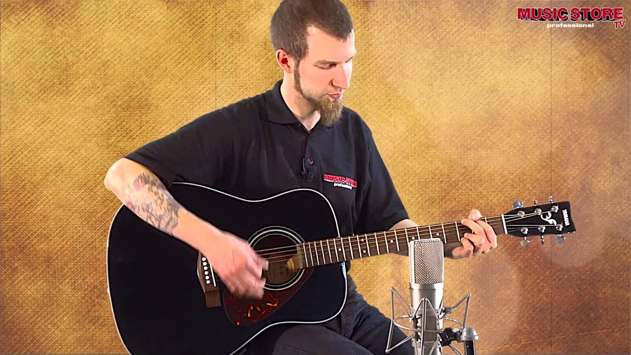 yamaha f370 western gitarre demonstration with loop control