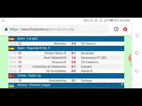 Today's Football Fixtures And LiveScore Results From LiveScore Cz Official HD Video 2019