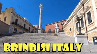 BRINDISI Italy - Touring a beautiful ancient city