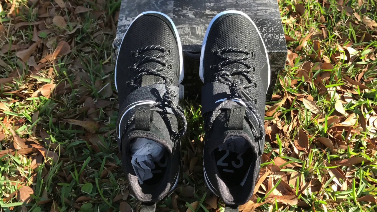 df4cafe551c Lebron 14 Black Ice Chase Down Detailed Look and On Foot - YouTube