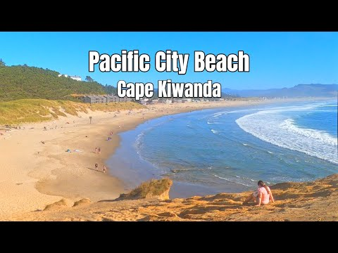 4K⁶⁰ Walking Pacific City Beach And Cape Kiwanda At The Oregon Coast, Travel