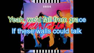 5sos - If Walls Could Talk Instrumental Karaoke with backing vocals (Album: Youngblood)