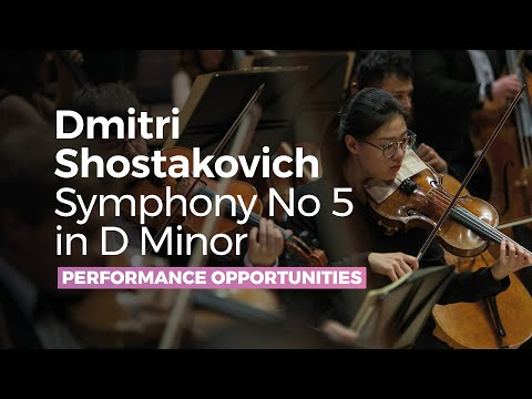 Dmitri Shostakovich Symphony No 5 in D Minor - RNCM Symphony Orchestra - Full Symphony