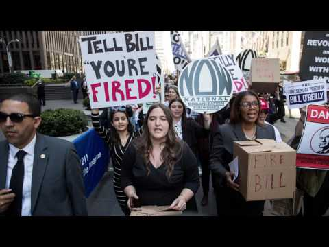 Protestors Demand Fox Fire Host Bill O'Reilly