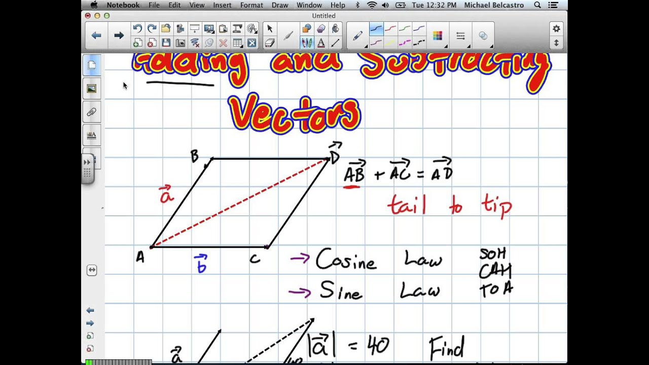 adding and subtracting vectors grade 12 calculus and vectors lesson 6 2 7 2 13
