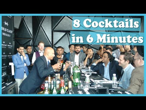 8 Cocktails in 6 Minutes | National Bartending Competition |