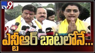 Nandamuri Harikrishna daughter Suhasini and Balakrishna pay homage to NTR || NTR Ghat - TV9