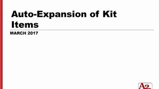 #87 | NetSuite Auto Expansion of Kit Items