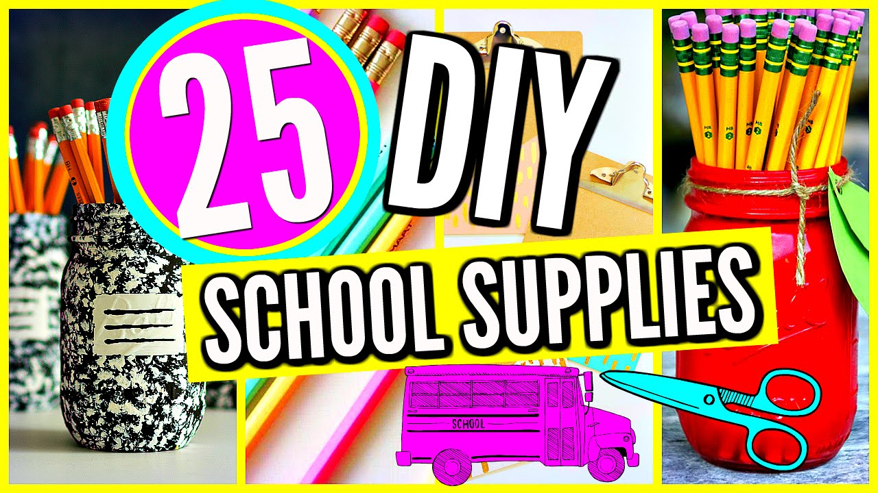 25 diy school supplies projects crafts back to school 2016 2017