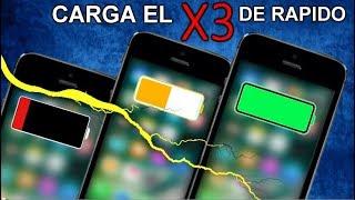 CARGA TU iPhone el TRIPLE (X3) MAS RAPIDO ! - TRUCOS PRO