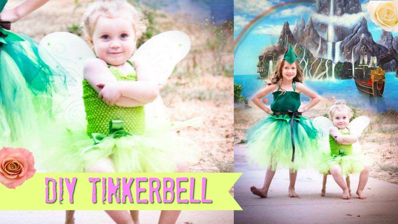 Diy tinkerbell no sew costume tutu youtube solutioingenieria Choice Image
