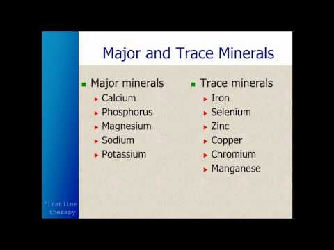 Vitamin Supplements & Minerals Needed To Optimize Your Body & Health