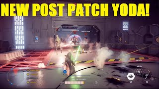 Star Wars Battlefront 2 - The NEW Post Patch Yoda! Capital Supremacy Theed! (Yoda Killstreak)