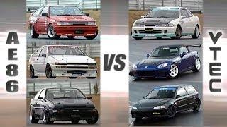 [ENG CC] VTEC Club vs. AE86 Hachiroku Club HV55