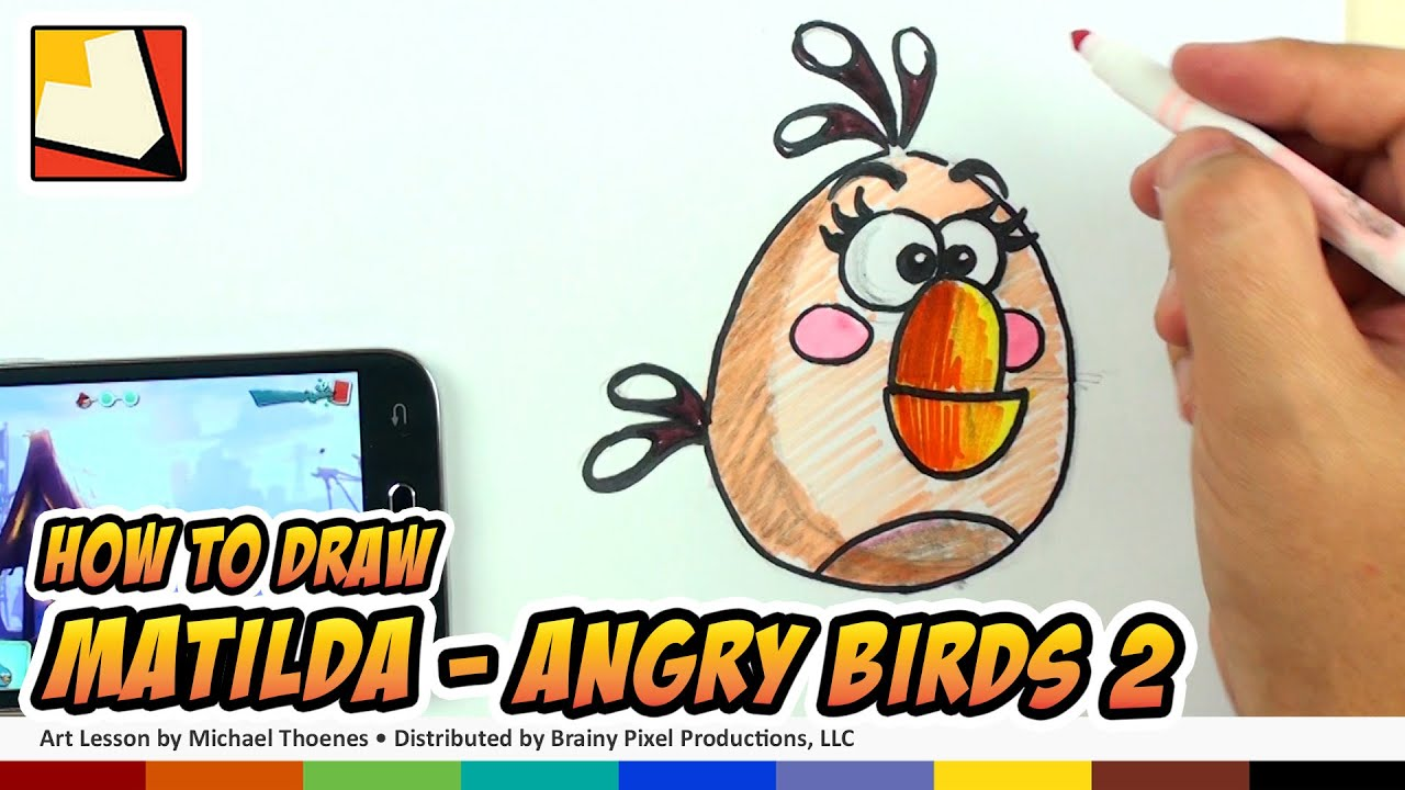 How To Draw Angry Birds 2 Characters - Matilda
