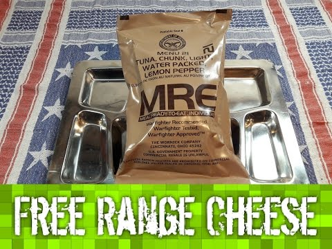 US MRE Review Menu 21 Tuna, Chunk, Light, Water Packed, Lemon Pepper (2014)