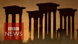 Syria conflict: Salvaging Palmyra artefacts - BBC News
