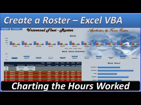 Roster - Create a Roster -Roster Template - Hours and Overtime -Adding the Charts