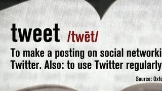 """Tweet"" an official word in Oxford English Dictionary"