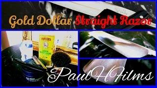 ♦Gold Dollar♦  Straight Razor  - Maca Root Shaving Cream