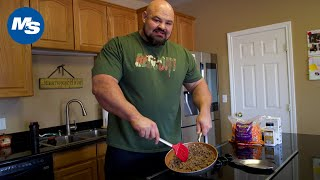 What Brian Shaw Eats for Lunch | 4x World's Strongest Man's BIG Lunch