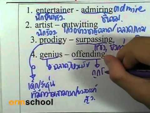 ข้อสอบภาษาอังกฤษGAT มีนาคม 2554 ,11
