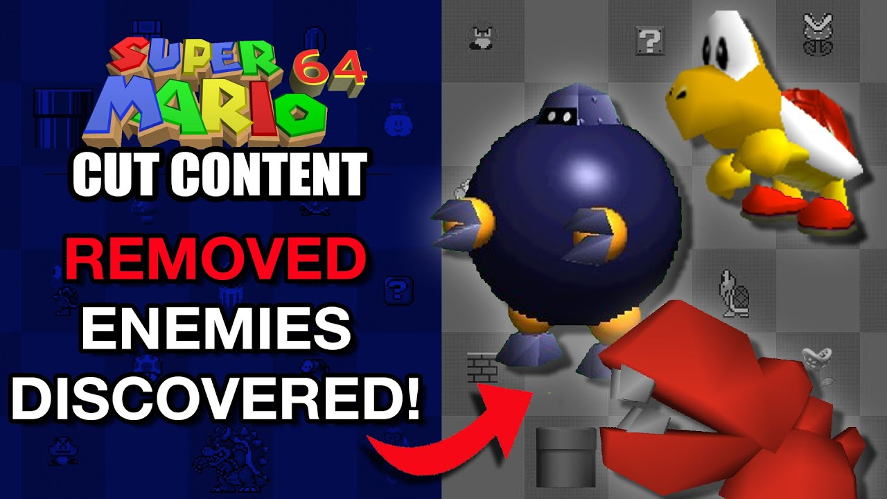 Removed And Altered Enemies Of Super Mario 64 Mario Cut Content Youtube
