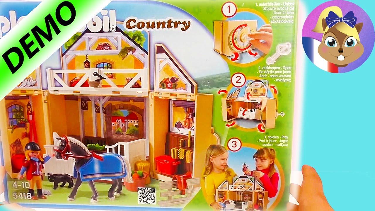 Playmobil cheval en francais ecurie playmobil fran ais - Playmobil haras ...
