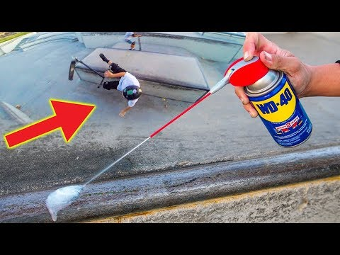 WILL WD-40 WORK AS SCOOTER WAX? *SCOOTER KID FALLS*