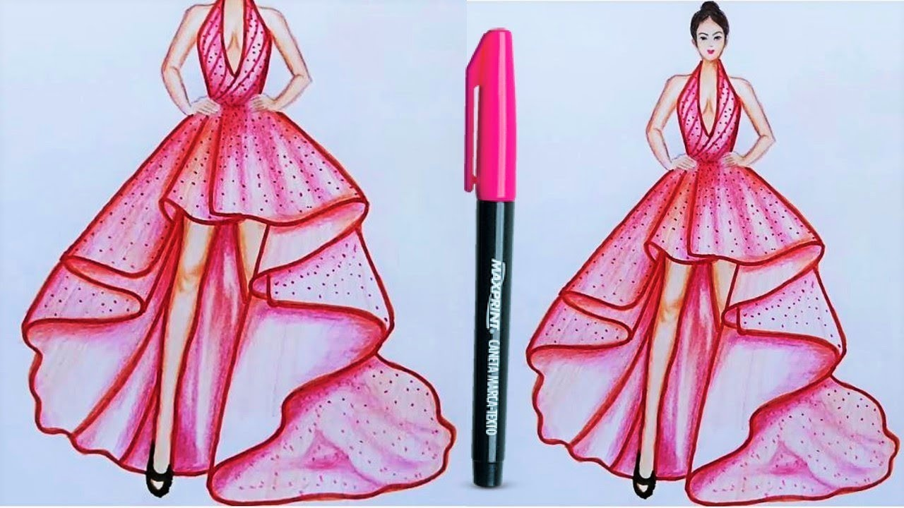 Fashion Designing Drawing How To Draw Fashion Illustration For Beginners Camstyles Youtube
