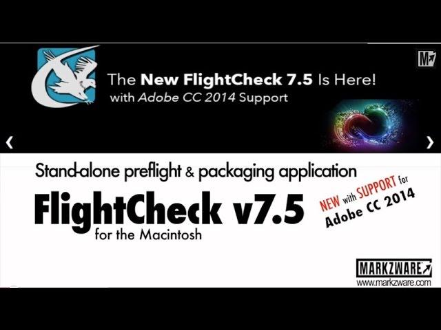Markzware FlightCheck 7 5 Mac Ground Controls: Non-PDF Fonts Usage