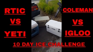 10 DAY ICE CHALLENGE! RTIC vs YETI