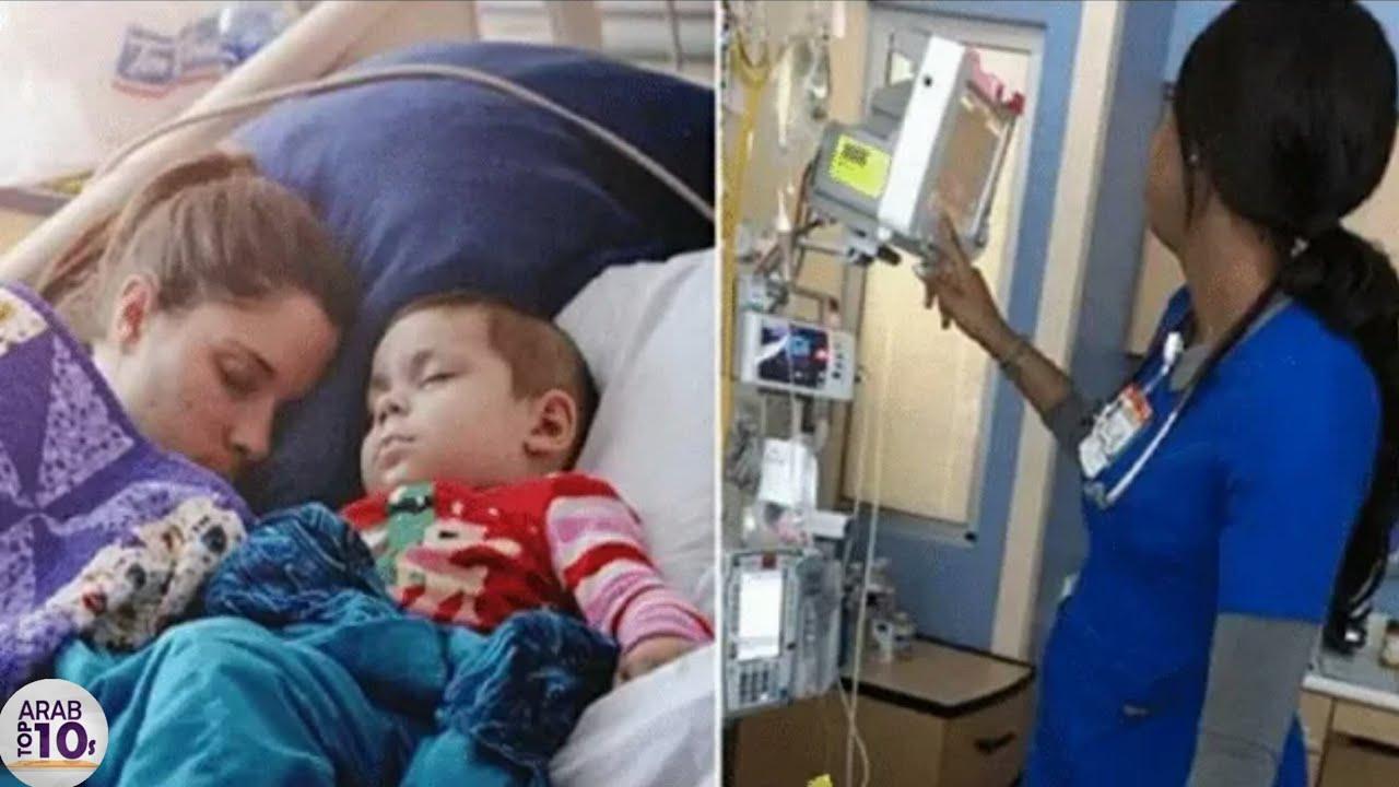ظنت الممرضة انه لم يرها أحداً ، لكن والدة الطفل التقطت صورة حتى يعرف الجميع الحقيقة
