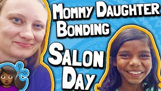 Mommy Daughter Bonding Salon Day 👩👧 // Cadie's First Haircut Since Adoption