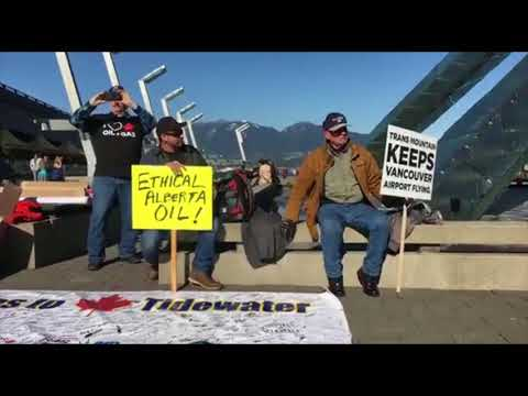 Vancouver rally in support of building pipelines