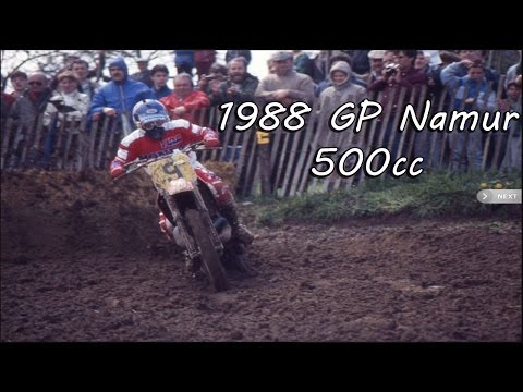 Motocross Grand Prix 1988 -  Namur, Belgium - 500cc (Eric Geboers World Champion)