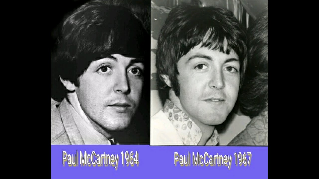 Paul McCartney Photo Comparison 1964 1967