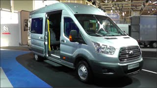 Ford Transit Bus 2015 In detail review walkaround Interior Exterior