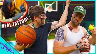 LOSER GETS TATTOO Trick Shot Challenge! (Part 2)