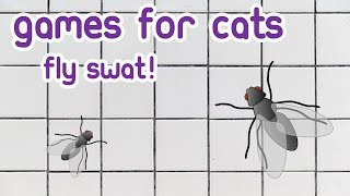 CAT GAMES 🐱 Videos for Cats entertainment catching a Fly ( Cat TV )