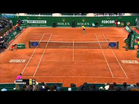 Monte-Carlo 2014 Saturday Highlights Federer Wawrinka