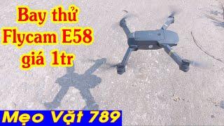 Đập hộp bay thử Flycam E58 Pocket Drone tại Banggood.com cực hài