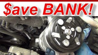 AC Compressor Install Access How To Infinity Q50S briansmobile1