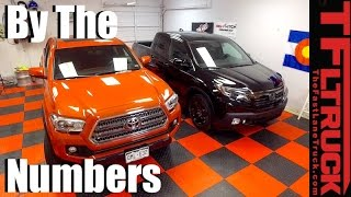 2017 Honda Ridgeline vs. Toyota Tacoma: By the Numbers Comparison Review
