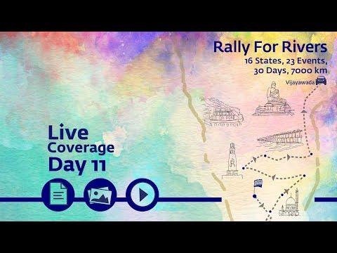 Rally for Rivers - Day 11 - Vijayawada