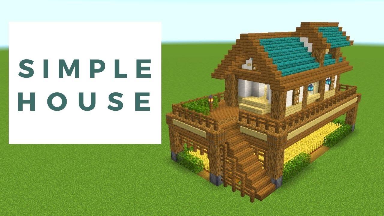【マイクラ】高台の家の作り方!歪んだ木材を使ったサバイバル拠点!【建築講座】